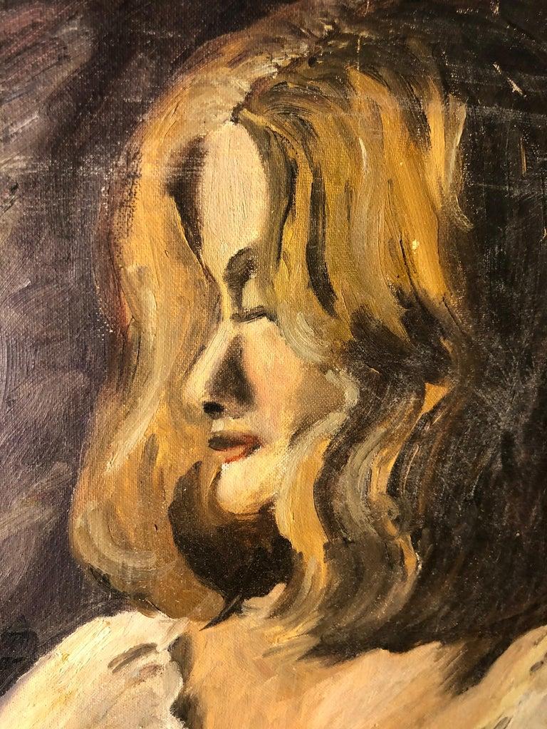 Midcentury Portrait of a Woman For Sale 4
