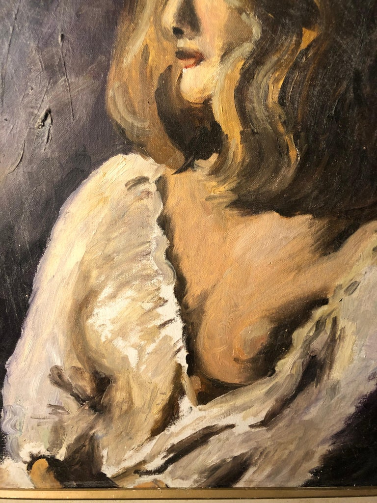 Midcentury Portrait of a Woman For Sale 6