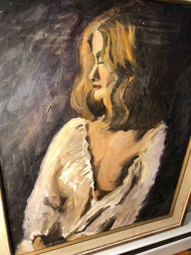Midcentury Portrait of a Woman For Sale 7