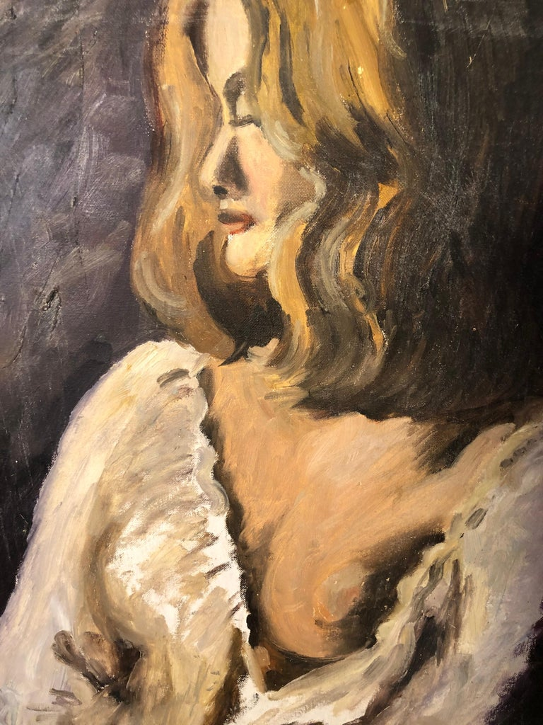 Midcentury Portrait of a Woman For Sale 12