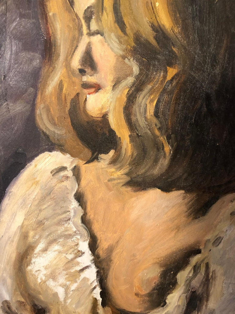 Midcentury Portrait of a Woman For Sale 13