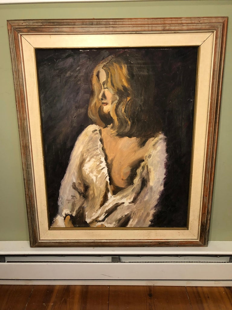 Mid-Century Modern Midcentury Portrait of a Woman For Sale