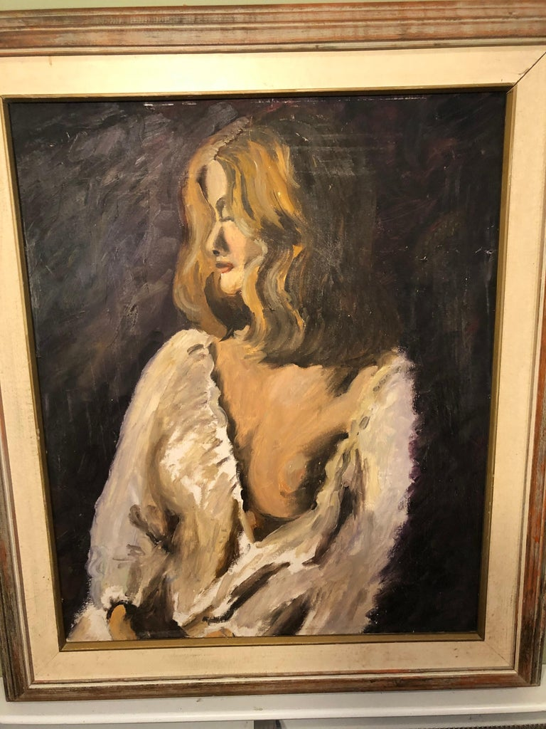 Midcentury Portrait of a Woman In Good Condition For Sale In Redding, CT