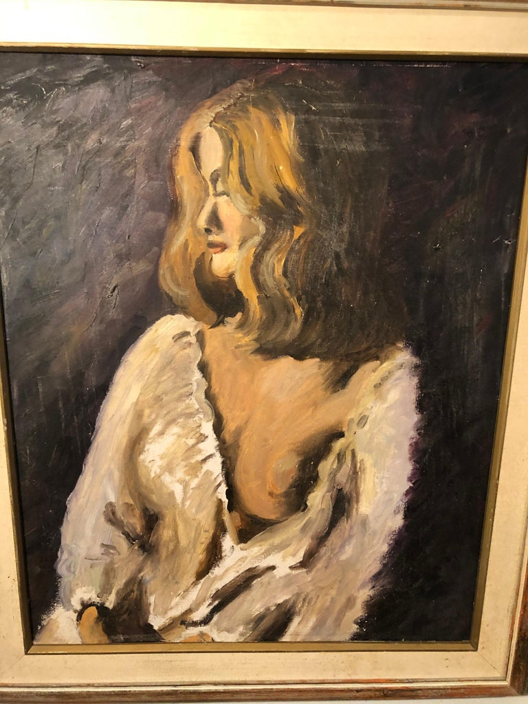 Late 20th Century Midcentury Portrait of a Woman For Sale