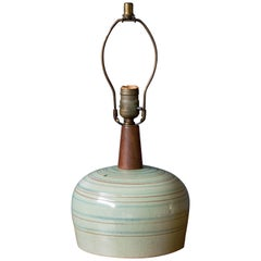 Mid-Century Pottery Accent Lamp by Martz