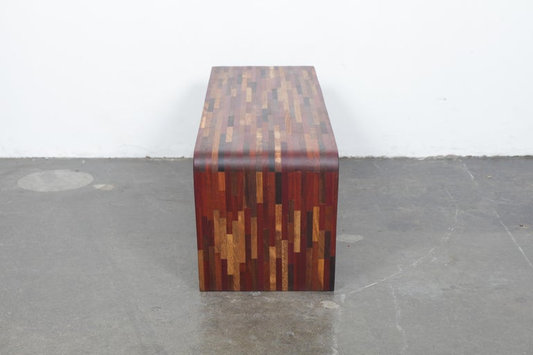 Midcentury Rare Brazilian Solid Wood Console Table by Tunico T In Good Condition For Sale In North Hollywood, CA