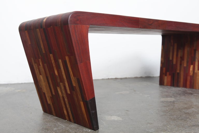 Midcentury Rare Brazilian Solid Wood Console Table by Tunico T For Sale 1