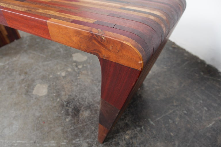 Midcentury Rare Brazilian Solid Wood Console Table by Tunico T For Sale 3