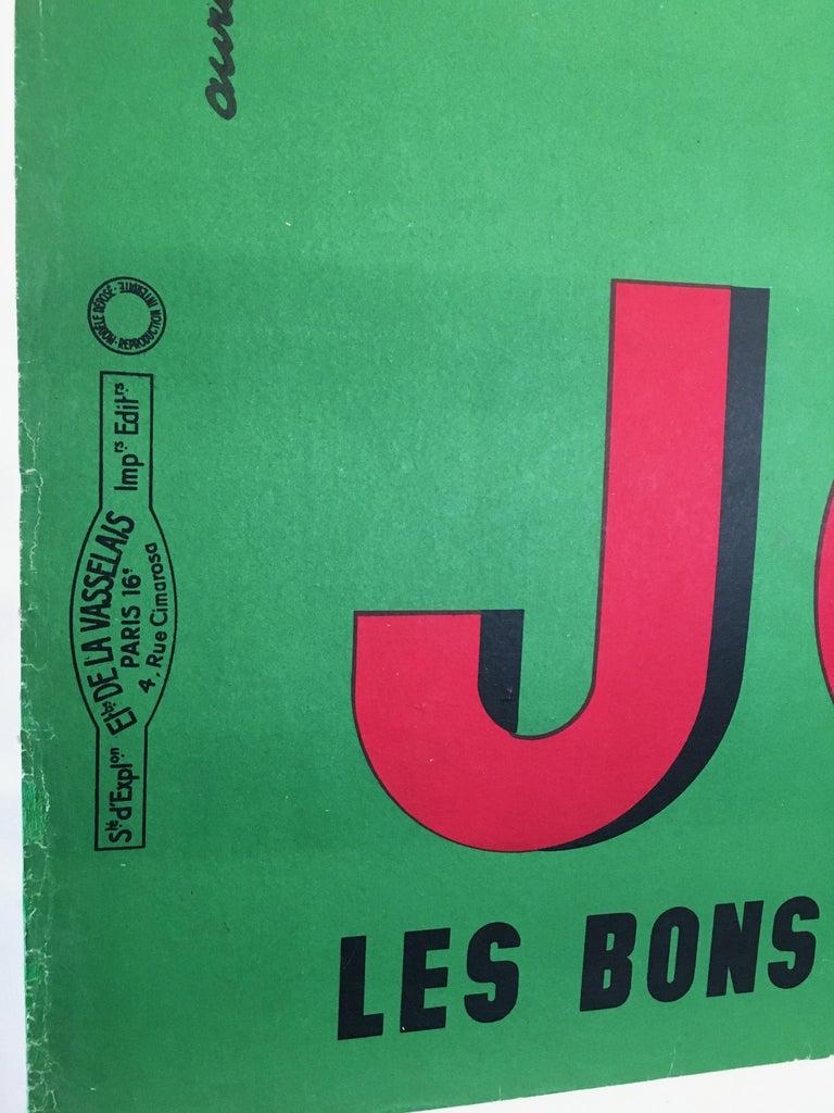 Mid-20th Century Midcentury Rare French Original Vintage Fruit-Juice Poster, 'Joker', 1957 For Sale