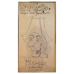 Mid-Century Rare Lithograph or Poster Exhibition from Pablo Picasso Barcelona