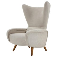 Midcentury Rare Wing Chair in Style of Designer Marco Zanuso, 1960s