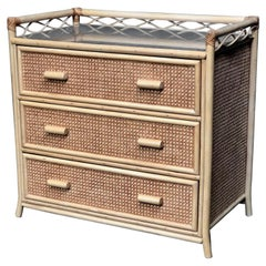 Midcentury Rattan / Cane Chest of Drawers by Angraves, England, 1970s