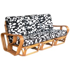 Midcentury Rattan Sofa Couch Paul Frankl Manner