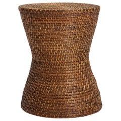 Mid-Century Rattan Stool or Side Table
