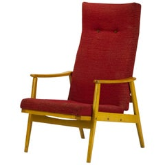 Mid Century Reclining High Back Armchair by TON, 1960s
