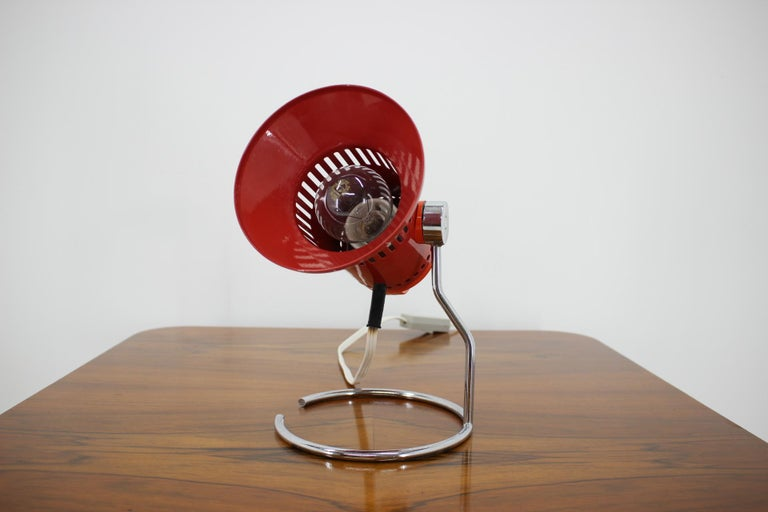Mid-Century Modern Midcentury Red Adjustable Table Lamp, 1980s For Sale