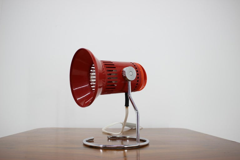 Midcentury Red Adjustable Table Lamp, 1980s In Good Condition For Sale In Praha, CZ
