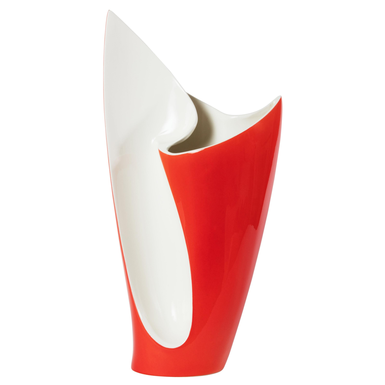 Midcentury Red Ceramic Vase