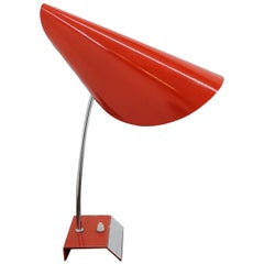 Midcentury Red Table Lamp, Josef Hurka, 1950s