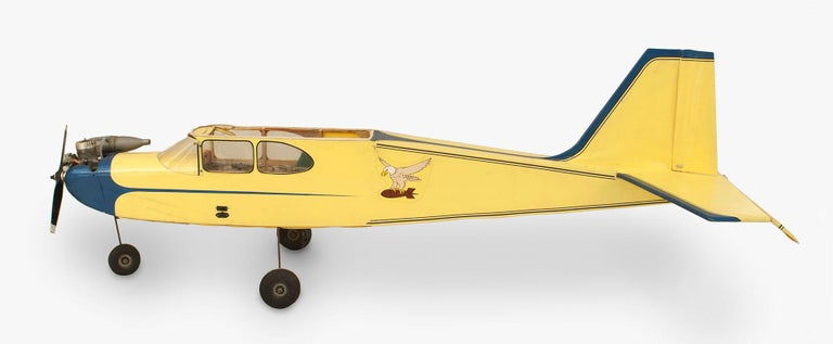 American Mid-Century Remote Control Model Airplane For Sale