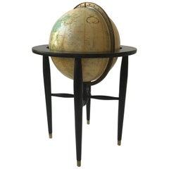 Midcentury Replogle Globe on Stand