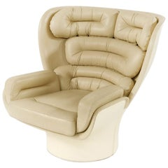 Midcentury Revolving 'Elda' Chair, Designed by Joe Colombo for Comfort in 1963