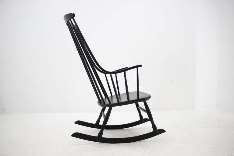 Lacquered Midcentury Rocking Chair Grandessa, Lena Larsson for Nesto, Sweden, 1960s
