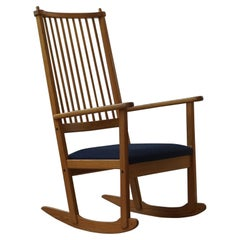 Mid Century Rocking Chair in Pine, by Yngve Ekström for Swedese, 1970s