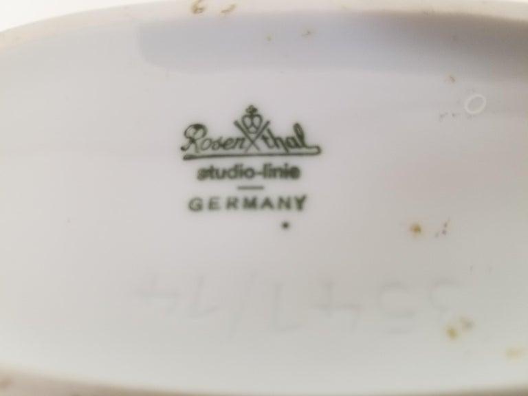 Rosenthal, Vase Germany Porcelain Mid Century 1970s Asian Inspired  For Sale 9