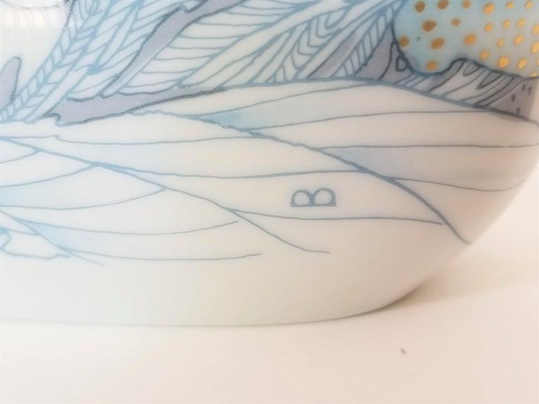 Rosenthal, Vase Germany Porcelain Mid Century 1970s Asian Inspired  For Sale 8