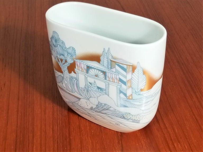 Rosenthal, Vase Germany Porcelain Mid Century 1970s Asian Inspired  For Sale 1