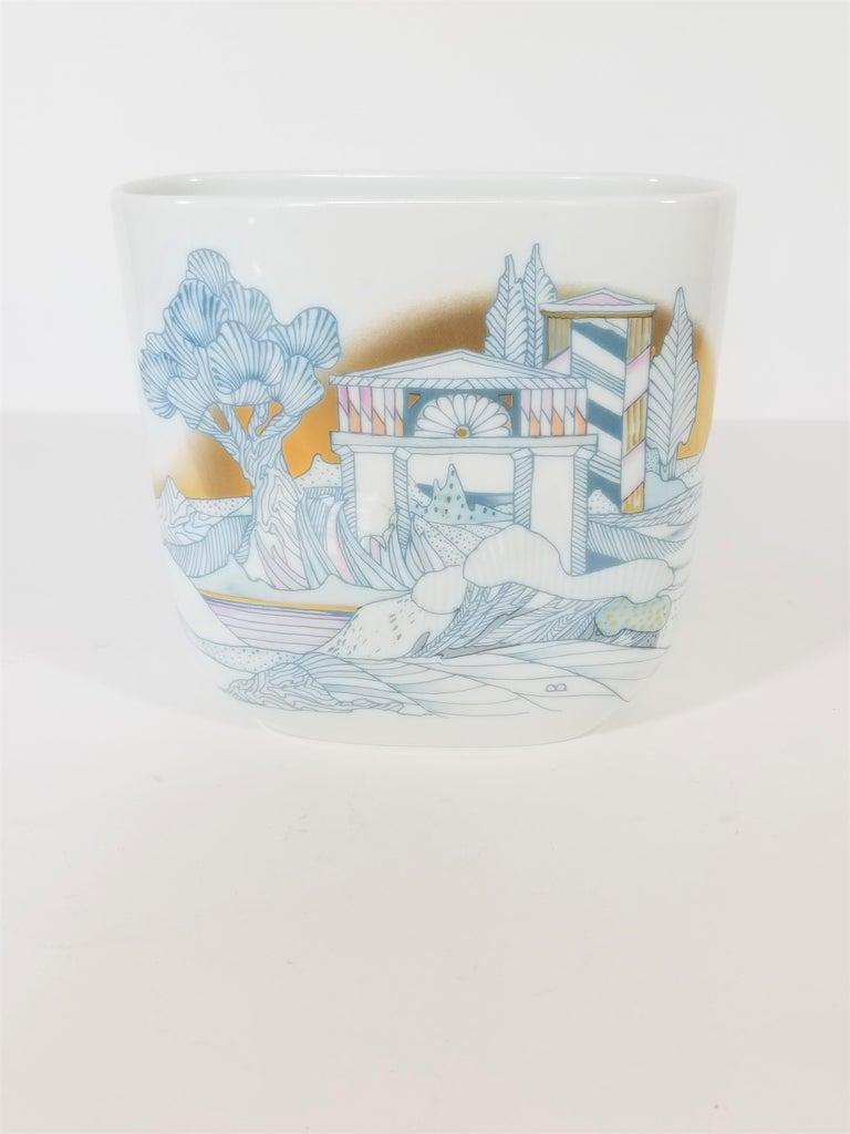 Rosenthal, Vase Germany Porcelain Mid Century 1970s Asian Inspired  For Sale 6
