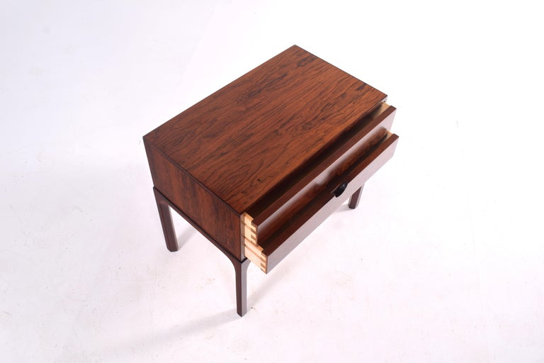 Midcentury Rosewood Bedside Table by Kai Kristiansen, 1950s For Sale 4