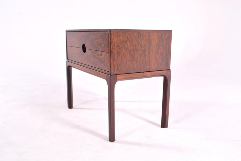 Mid-Century Modern Midcentury Rosewood Bedside Table by Kai Kristiansen, 1950s For Sale