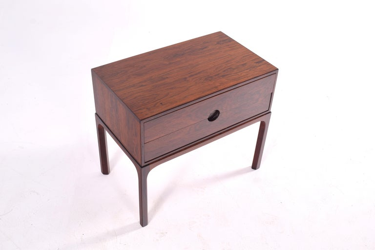Danish Midcentury Rosewood Bedside Table by Kai Kristiansen, 1950s For Sale
