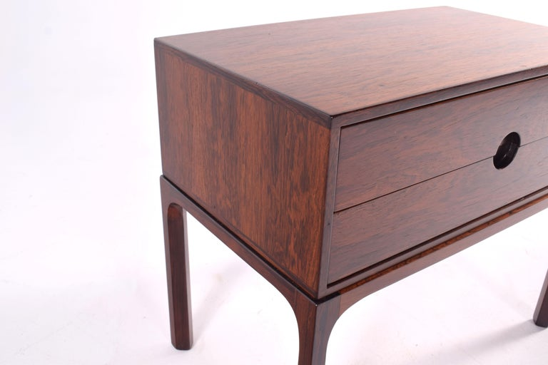 Midcentury Rosewood Bedside Table by Kai Kristiansen, 1950s In Good Condition For Sale In Lisboa, Lisboa