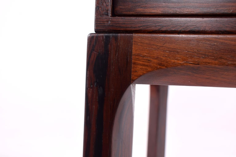Midcentury Rosewood Bedside Table by Kai Kristiansen, 1950s For Sale 1
