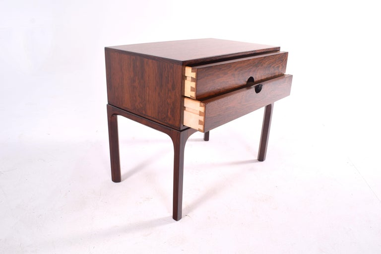 Midcentury Rosewood Bedside Table by Kai Kristiansen, 1950s For Sale 3