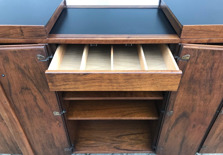 American Mid Century Rosewood Cocktail Bar by Jack Cartwright for Founders Furniture Co. For Sale