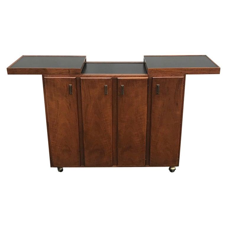 Mid Century Rosewood Cocktail Bar by Jack Cartwright for Founders Furniture Co. For Sale