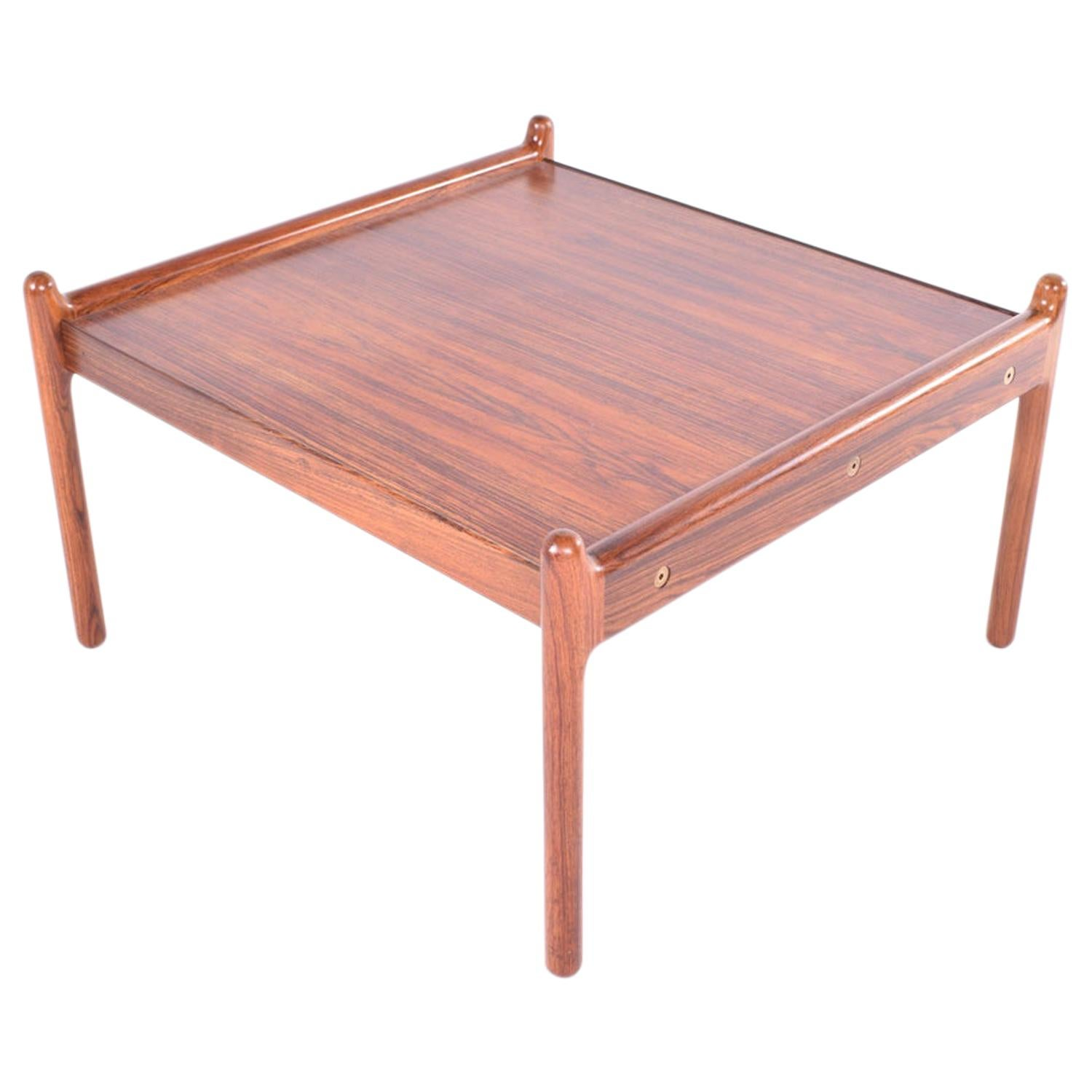 Midcentury Rosewood Coffee Table by Illum Wikkelsø for CFC Silkebørg