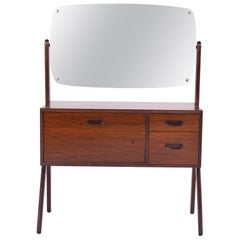 Midcentury Rosewood and Teak Danish Dressing Table with mirror, 1960´s