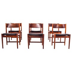 Mid Century Rosewood Dining Chairs by Arne Vodder for Sibast Furniture, 1960s
