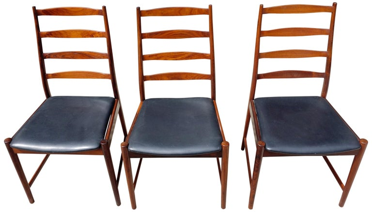 Midcentury Rosewood Dining Chairs Torbjørn Afdal for Vamo In Good Condition In BROOKLYN, NY