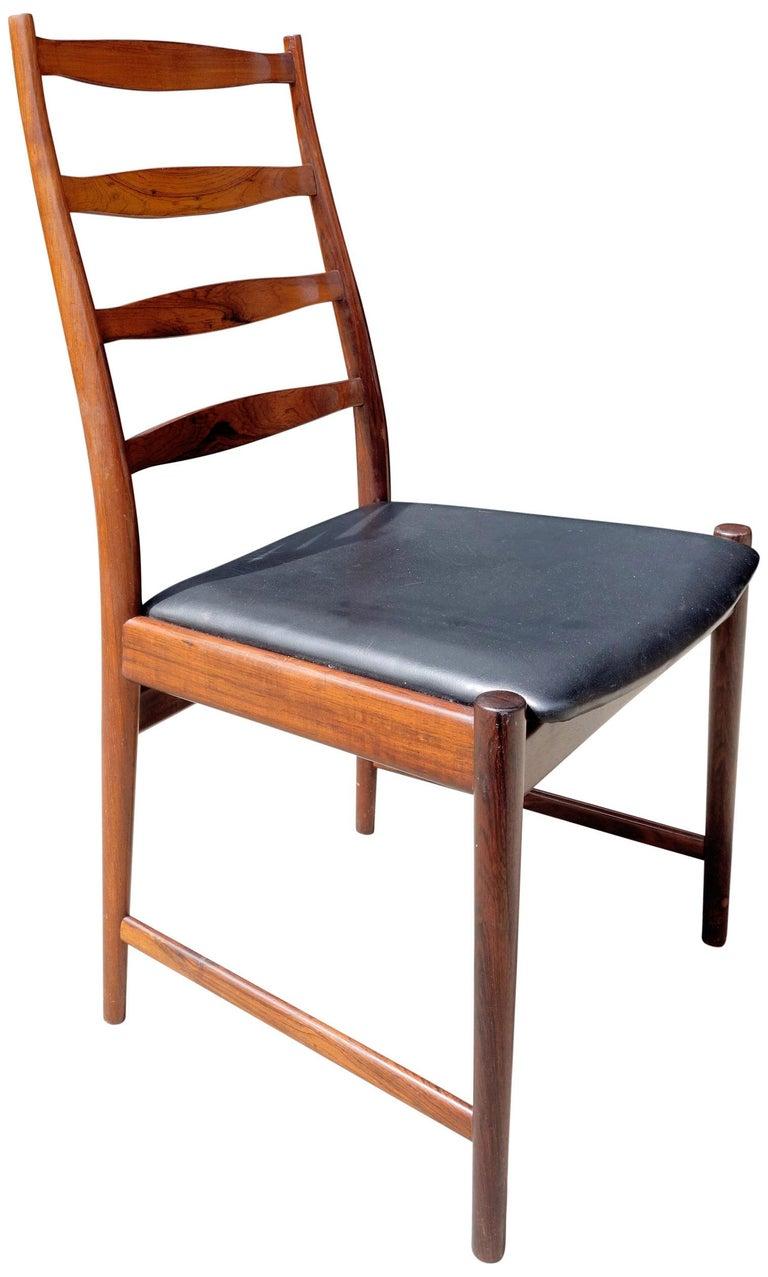 Wood Midcentury Rosewood Dining Chairs Torbjørn Afdal for Vamo