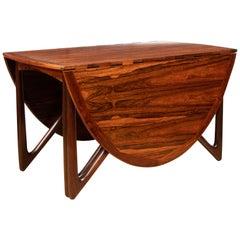 Mid Century Rosewood Dining Table by Niels Koefoed
