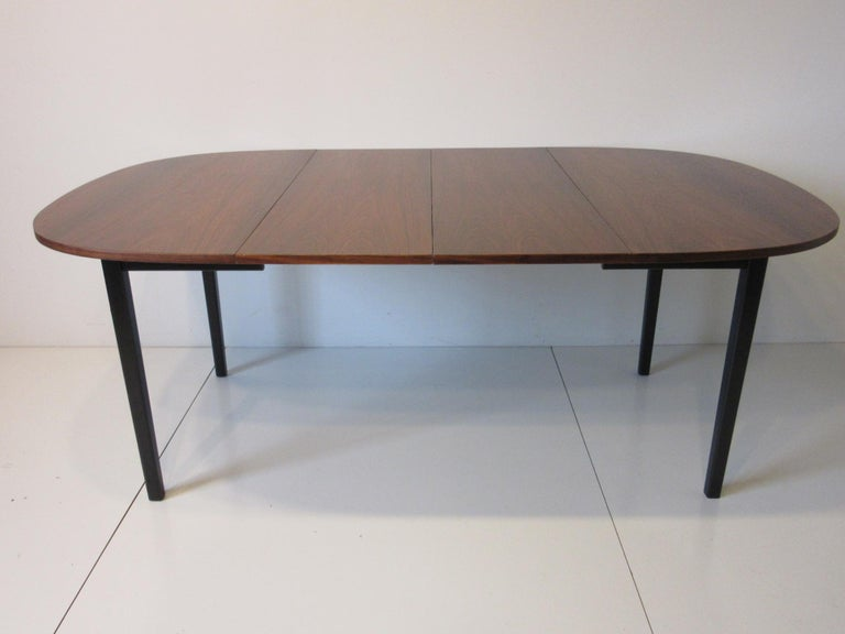 Mid Century Rosewood Dining Table in the Style of Directional  For Sale 6