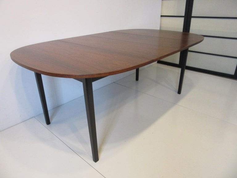 20th Century Mid Century Rosewood Dining Table in the Style of Directional  For Sale