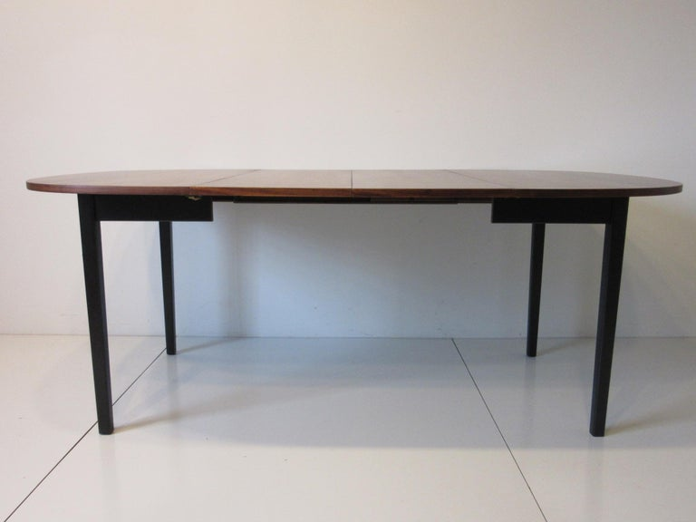 Mid Century Rosewood Dining Table in the Style of Directional  For Sale 2