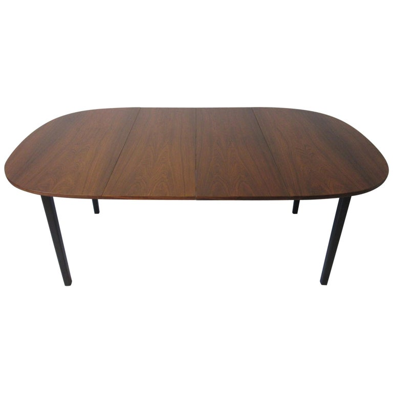 Mid Century Rosewood Dining Table in the Style of Directional  For Sale